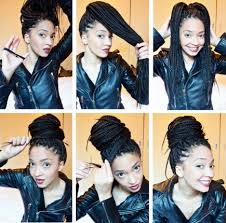 images of black braided bunstyle with bangs in back hairstyle 15 box braids hairstyles that rock more com