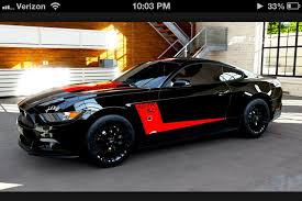 Black Mustang With Red Stripes Ford Mustang 2015 Gt Black And Red Stripe Only Mustangs Pinterest