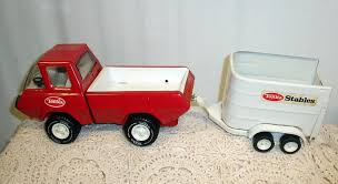 Vintage Ford Truck Signs - vintage tonka pickup truck w horse trailer red white plastic metal