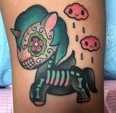 alex strangler my pony sugar skull skeleton tattoos