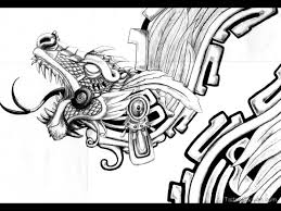 latest aztec warrior tattoo design