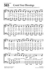 Count Your Blessings Lyrics And Chords Count Your Blessings Hymnary Org