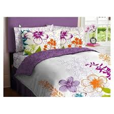 Purple Floral Comforter Set Here Is A Great Flower Comforter Set That Will Brighten Up Your