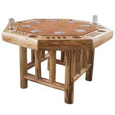 Teak Indoor Dining Table Amazon Com Rush Creek Creations Rustic Log 8 Player Octagon