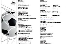 Sample Athletic Resume by Resume For College Soccer Recruiting Reentrycorps