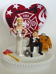 fireman wedding cake topper wedding cake topper firefighter fireman department