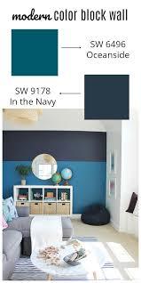 sherwin williams color modern color block wall with sherwin williams color of the year 2018