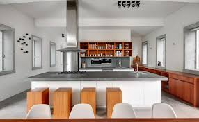 high end two tone kitchen cabinet design and large island with