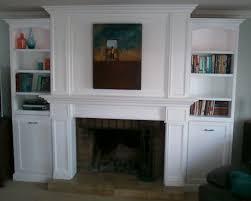 fireplace mantel bookshelves cool mantelbookshelvesa
