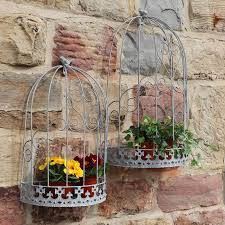 Wall Plant Holders Set Of Two Wall Bird Cage Plant Holders By Dibor
