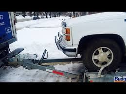 trailer car carrier connection hookup to a moving truck youtube