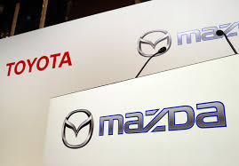 new mazda logo toyota motor sets up new electric car venture with mazda denso wsj