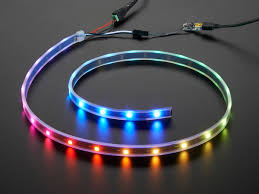 how to make led strip lights adafruit neopixel led strip starter pack 30 led meter black id