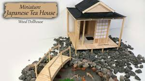 miniature japanese tea house wood dollhouse tutorial