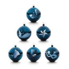 alessi blue tree hanging ornament panik design