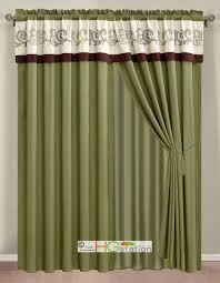 Eclipse Kendall Curtains Curtains Faux Silk Kids Drapes Bright Kids Lime Green Blackout