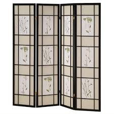 home decorators collection 5 83 ft black 4 panel room divider