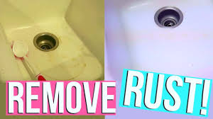 How To Clean Rust Stains From Bathtub How To Remove Rust Stains Fast Clean With Me Page Danielle