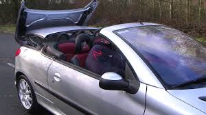 pego car seat 03 03 peugeot 206 cc convertible youtube