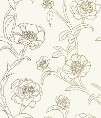 wall decor charming peonies temporary wallpaper gold leaf by