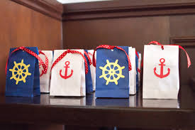 nautical bags nautical gift bags with thank you tags set of 10 nautical gifts