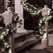 Outdoor Lighted Garland Best 25 Pre Lit Garland Ideas On Pinterest King Pillows Large