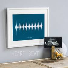 Sound Wave by Personalised Voice Or Song Sound Wave Print By Newton And The