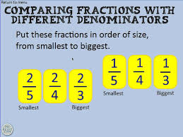 comparing fractions with different denominators youtube