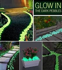 glow in the dark pebbles stone for garden walkways stone and dark