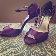 Plum High Heels David U0027s Bridal David U0027s Bridal Giuliana Plum Heels W Rhinestones