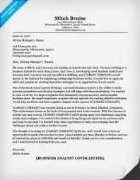 sample business systems analyst cover letter customer service