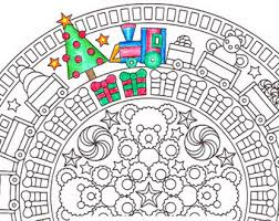 christmas mandala coloring xmas coloring pages
