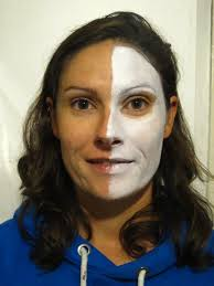 Skeleton Face Paint For Halloween by Half Skull Face Paint Tutorial Coochiecrunch