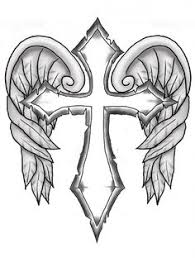 cross with wings design
