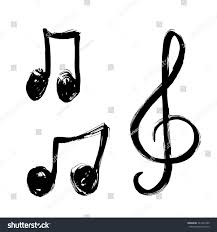 set music notes icon music note background hand stock vector
