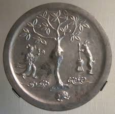 file tang dynasty bronze mirror with moon goddess and rabbit