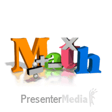 math symbols bouncing text backdrop