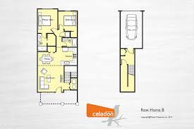 row home floor plans celadon mosaic properties