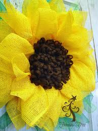 sunflower mesh wreath alternate centers for flower wreaths trendy tree