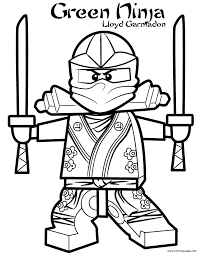green ninja ninjago s2dd5 coloring pages printable