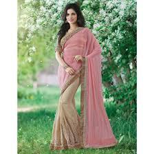 baby pink and beige color saree sku no mah 9233