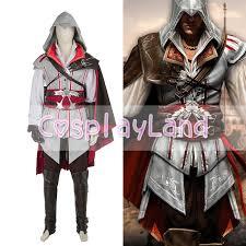 assassins creed ii costume ezio uniform suit halloween men cosplay