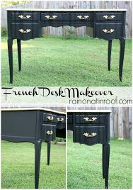 black and gold french desk makeover