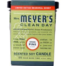mrs meyers clean day scented soy candle iowa pine scent 4 9 oz