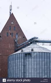 old store house and modern silo demmin mecklenburg pomerania