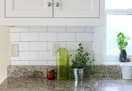 wallpaper backsplash kitchen white subway tile temporary backsplash the tutorial the