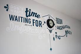 Decorate Office Walls Ideas Creative Office Wall Artthrough The Keyhole Magpie Office Designs