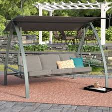 5 Ft Patio Swing With Cedar Pergola Create by Three Person Porch Swings You U0027ll Love Wayfair