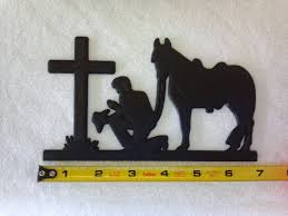 Cross Home Decor by Plastic 7 Praying Cowboy Silhouette Home Decor