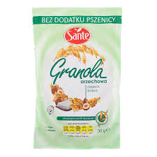 cuisine sante sante granola with nut 50g tops